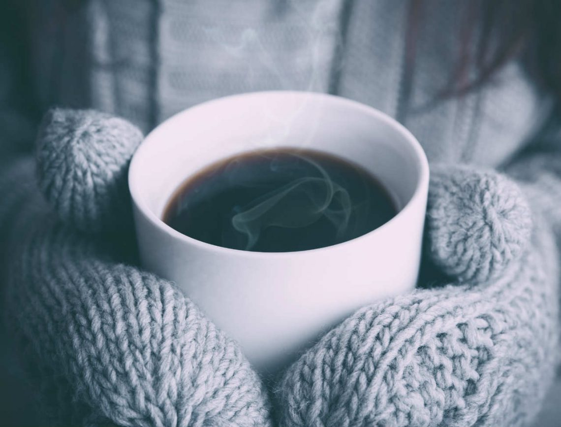 warme koffie koude handen